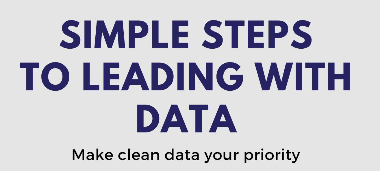 Simple steps to lead with data